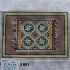 Needlepoint Canvas Miniature Native American Rug