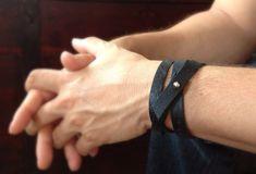 Men's Black Leather Bracelet, Triple Wrap Bracelet, Leather Cuff, Men's Bohemian Fashion, Bohemian Bracelet, Bohemian Jewelry, Black Friday by TesoroDelSol on Etsy https://www.etsy.com/ca/listing/158599128/mens-black-leather-bracelet-triple-wrap