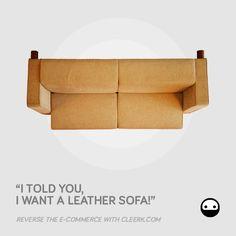 Cleerk.com - facebook campaign - subject SOFA2 #advertising #cleerk #ecommerce #revolution #sofa #fabric