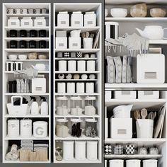 Modern racks with decor Kitchen Organization Pantry, Pantry Storage, Room Organization, Kitchen Storage, Household Organization, The Home Edit, Organisation Hacks, Pantry Design, Cuisines Design