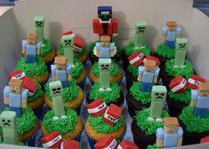 Minecraft Cupcakes, Minecraft Birthday Cake, Minecraft Party, 7th Birthday, Birthday Ideas, Victoria Sponge, Chocolate Toffee, Minecraft Designs, Drip Cakes
