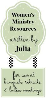 Women's Ministry Resources--An Inspiring site for Creative Ladies Ministry