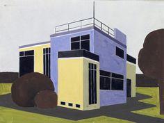 Farkas Molnár: Entwurf für ein Einfamilienhaus, 1923 - aus der Sammlung Bauhaus