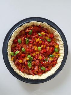Tarte aux poivrons, bacon & tomates séchées | Ma p'tite cuisine