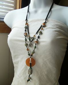 The Cerebral Dilettante: another view of leather necklace