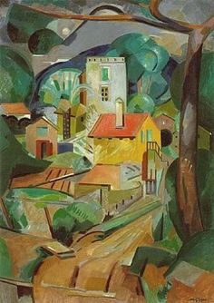 Gleizes, Albert - Cavalaire or The Village - Cubism - Oil on canvas - Landscape