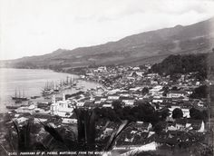 photo J. Murray Jordan - Panorama of St Pierre, Martinique, From the Mountains, 1898