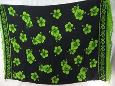 black sarong with green hibiscus Hawaiian flowers Sexy beach Clothing for Men $5.25 - http://www.wholesalesarong.com/blog/black-sarong-with-green-hibiscus-hawaiian-flowers-sexy-beach-clothing-for-men-5-25/