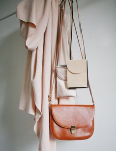 fe643415924d6 alexbender saddle bag cognac brown and neck poches . minimalistic design  handmade in berlin  bags