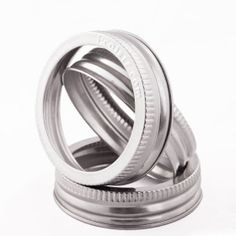 Ecojarz.com now has large mouth and small mouth STAINLESS STEEL jar rings, will not ding or rust - built to last!
