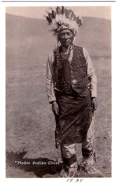 MODOC Indian Chief, 1938. Real photo Postcard edited c.1938-1942