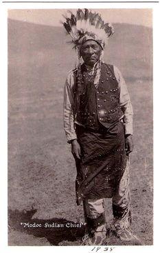 MODOC Indian Chief, 1938. Real photo Postcard edited c.1938-1942