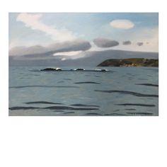 Seascape. Oil on board. 60cm x 42cm. . . . . . . . #artforsalebyartist #sophieharding #artforinteriors #oilonboard #contemporaryartist…