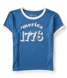 Free State 'merica 1776 Cropped Tee -