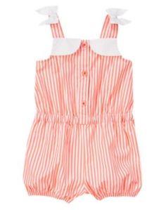 215 NWT Gymboree Pinwheel Pastels Romper Size 18-24 Months Striped Summer #Gymboree #Everyday