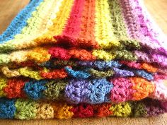 ♥ I have used 15 x 100g balls of Stylecraft Special DK worked on a 4mm hook to make my Cosy Stripe Blanket.