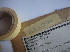 A l'ombre du marronnier: DIY: Impression sur masking tape Scotch, Making Tape, Tapas, Washi Tape Diy, Paper Book, Paper Tape, Printer Paper, Craft Corner, Custom Labels