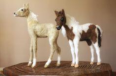 Colt figurine needle felting horse baby by MinzooNeedleFelting