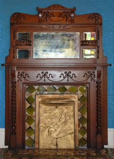 Fireplace Mantle, George Barber House