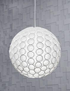 DIY: paper cup pendant light