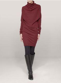 Lanvin - Draped-neck wool-cashmere dress | Red Work Dresses | Womenswear | Lane Crawford - Shop Designer Brands Online
