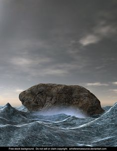 I was working on a background for one of my own projects, and this is one of the variations I came up with. I thought it would make a nice backgro. Free Stock Background: Rock in Rough Ocean Banner Background Hd, Stock Background, Hd Background Download, Dslr Background Images, Picsart Background, Textured Background, Picsart Png, Blur Image, Hair Png