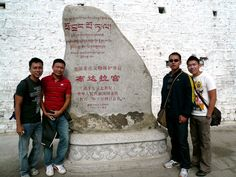 Group (camwhore) photo to prove our presence. Click photo to read my Potala Palace tour experience.
