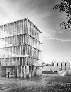 Erster Preis zum Wettbewerb Bauhaus-Archiv: Staab Architekten GmbH, Berlin, Perspektive