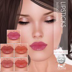 https://flic.kr/p/zxLQSz | Oceane - Lovely Lips 5-pack 2 Lelutka | Second Life Marketplace: marketplace.secondlife.com/stores/7401  www.oceanebodydesign.com/   Inworld Store: maps.secondlife.com/secondlife/Oceanside%20dAlliez/194/21...