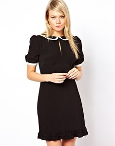 ASOS Mini Dress With Piping Detail