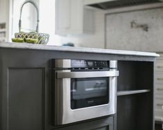Trash Can And Microwave Built Into Kitchen Island. Nice Use Of Space | Home  Spaces | Pinterest | Kitchens, Spaces And House Tours