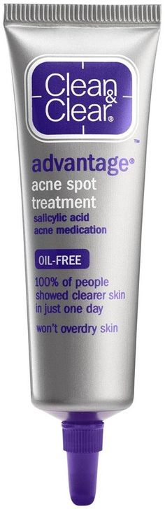 Clean & Clear Advantage Acne Spot Treatment, Oil Free Acne Treatment with Salicylic Acid, Gel Pimple Cream for Adults and Teens, Witch Hazel & Salicylic Acid oz ( Pack of Salicylic Acid Acne, Best Lotion, Lotion For Dry Skin, Acne Spot Treatment, Acne Spots, Sensitive Skin Care, Homemade Skin Care, Acne Skin, Anti Aging Skin Care