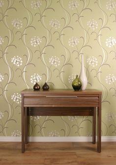 Mia Wallpaper Green Motif 599703