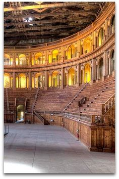 Teatro Farnese - Parma Italy  Teatro Farnese is a wooden Baroque style theater built in 1618