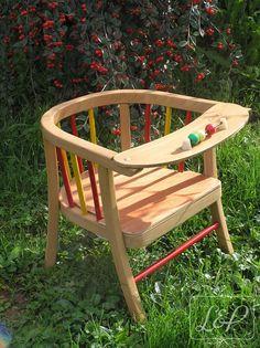 Petite chaise vintage enfant estampillée Baumann sous l'assise : Chambre…