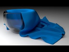 Blender video tutorial by Little Web Hut -create glass bowl with cloth napkin draped in it. Excellent video!