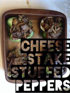 Cheese Stake Stuffed Peppers