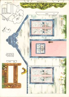 LASSIE mini paper house and barn