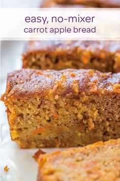 This easy, no-mixer carrot apple bread is a great way to let your little one feel like they're getting a treat while still making sure that they eat plenty of fruits and veggies. The carrots and apples make this DIY bread super moist and easy to prepare. Plus, with plenty of cinnamon and nutmeg, this bread is just in time for fall.