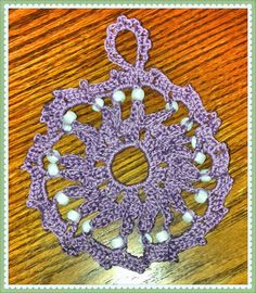 Lots of Crochet Stitches by M. J. Joachim: Snowflake Ornament 103013