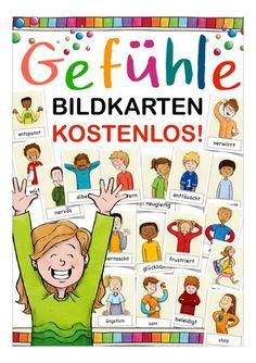 Yoga For Kids, Diy For Kids, Chico Yoga, Kindergarten Portfolio, German Language Learning, Les Sentiments, Picture Cards, School Fun, Classroom Management
