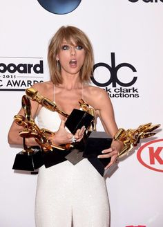 Taylor with her EIGHT awards!