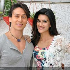 Tiger Shroff and Kirti Sanon pose together during the special screening of Bollywood movie Heropanti, held in Mumbai, on May 22, 2014.(Pic: Viral Bhayani)See more of: Tiger Shroff, Kirti Sanon