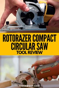 If you're looking for a compact circular saw set, one of the products you're like to come across is the ROTORAZER Compact Circular Saw Set. Worm Drive Circular Saw, Compact Circular Saw, Circular Saw Reviews, Best Circular Saw, Cordless Circular Saw, How To Make Diy Projects, Diy Pallet Projects, Backyard Projects, Garden Projects