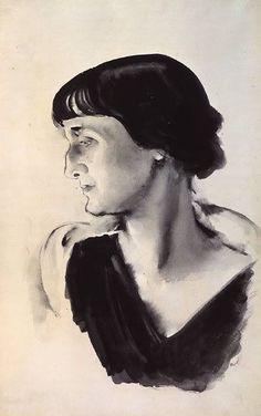 Portrait d'Anna Akhmatova, Nikolai Tyrsa 1928