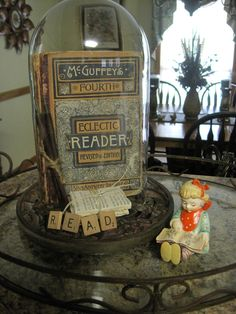 cloche idea Brilliant way to display treasured antique keepsakes!