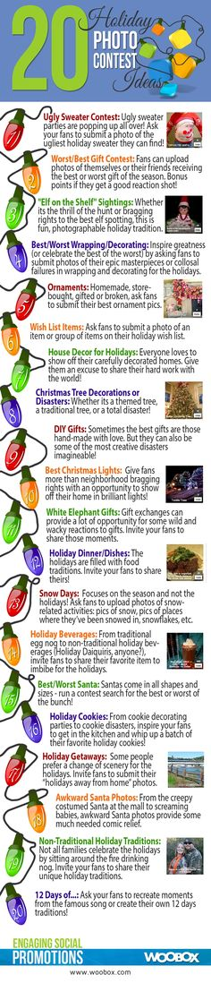 INFOGRAPHIC: 20 Facebook Holiday Photo Contests - AllFacebook