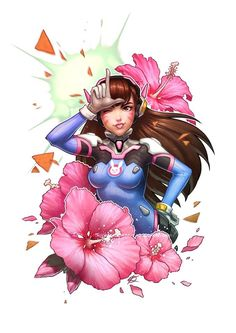 Overwatch - D.VA Flower Power