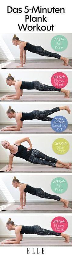 Mit einer Übung den kompletten Körper trainieren? Geht! Den kompletten Plank-Trainingsplan findest du auf ELLE.de!