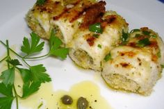 Swordfish rolls alla Messinese: the recipe from the Strait for … – Shellfish Recipes Shellfish Recipes, Meat Recipes, Food Porn, Fish And Meat, Linguine, Antipasto, Finger Foods, Rolls, Food And Drink